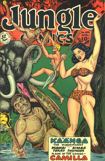 Cover for Jungle Comics (Fiction House, 1940 series) #104