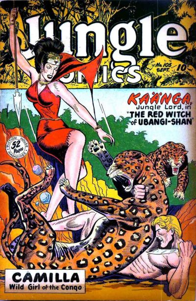 Cover for Jungle Comics (Fiction House, 1940 series) #105