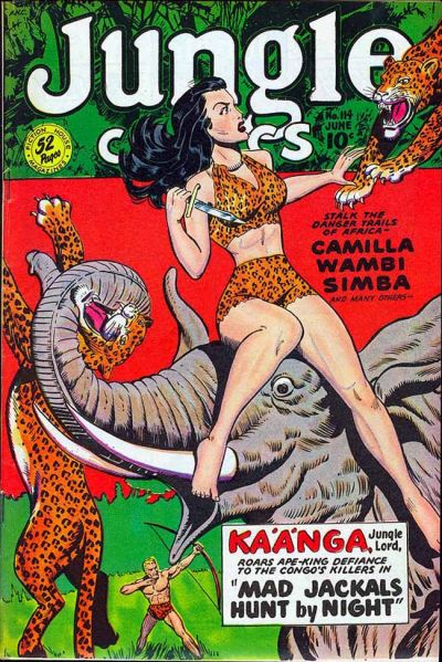 Cover for Jungle Comics (Fiction House, 1940 series) #114