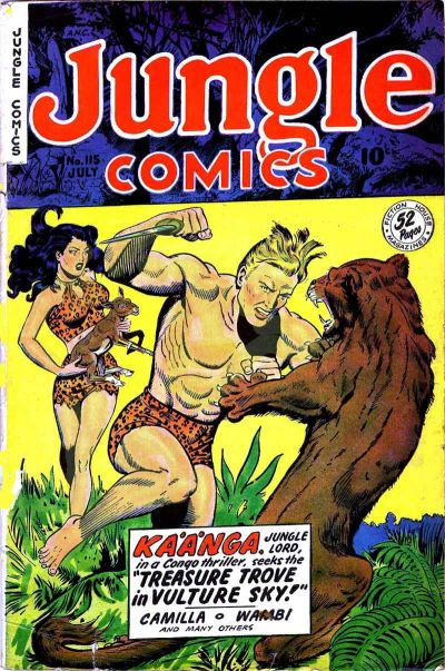 Cover for Jungle Comics (Fiction House, 1940 series) #115