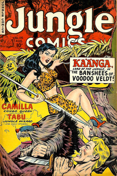 Cover for Jungle Comics (Fiction House, 1940 series) #116