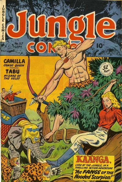 Cover for Jungle Comics (Fiction House, 1940 series) #117