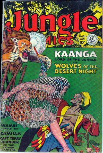 Cover for Jungle Comics (Fiction House, 1940 series) #121
