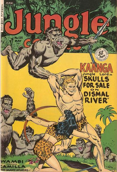 Cover for Jungle Comics (Fiction House, 1940 series) #125