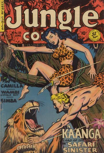 Cover for Jungle Comics (Fiction House, 1940 series) #126