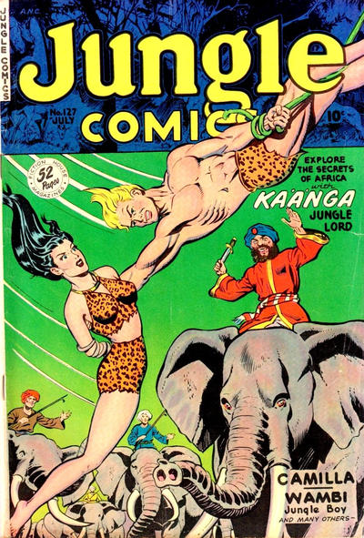 Cover for Jungle Comics (Fiction House, 1940 series) #127