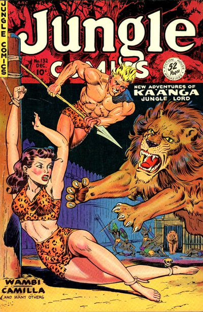 Cover for Jungle Comics (Fiction House, 1940 series) #132
