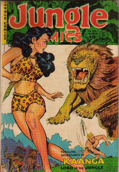 Cover for Jungle Comics (Fiction House, 1940 series) #135