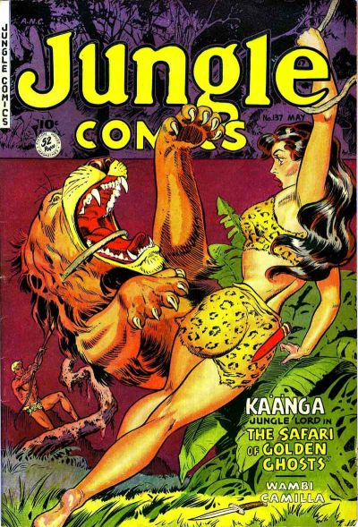 Cover for Jungle Comics (Fiction House, 1940 series) #137