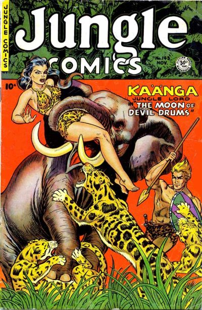Cover for Jungle Comics (Fiction House, 1940 series) #143