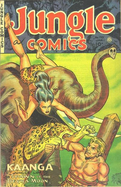 Cover for Jungle Comics (Fiction House, 1940 series) #145