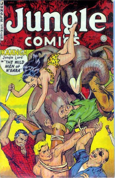 Cover for Jungle Comics (Fiction House, 1940 series) #153