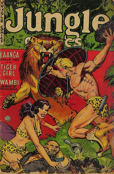 Cover for Jungle Comics (Fiction House, 1940 series) #156