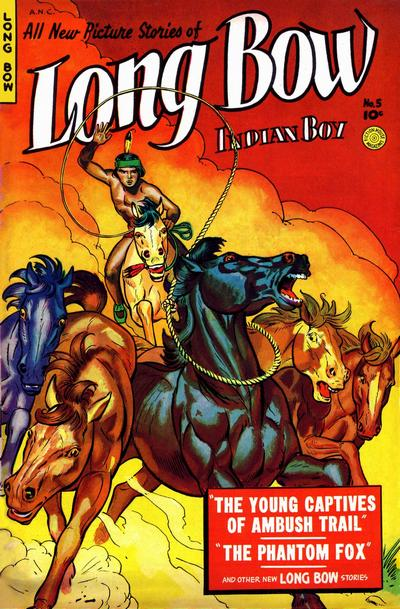 Cover for Long Bow (Fiction House, 1951 series) #5