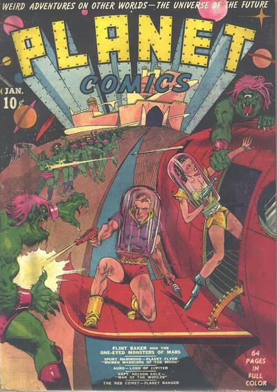 Cover for Planet Comics (Fiction House, 1940 series) #1
