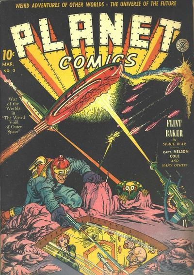 Cover for Planet Comics (Fiction House, 1940 series) #3