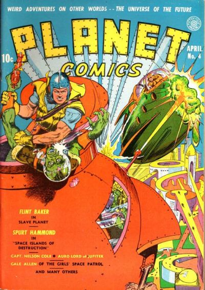 Cover for Planet Comics (Fiction House, 1940 series) #4