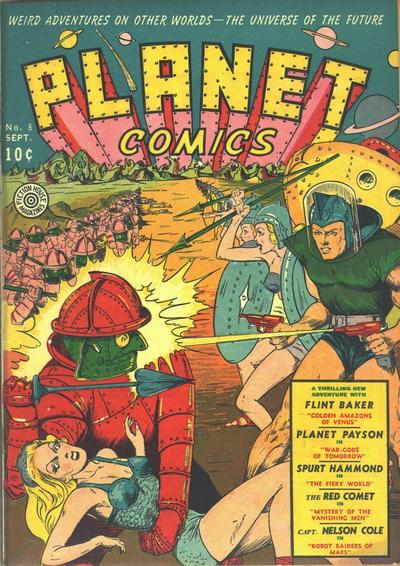 Cover for Planet Comics (Fiction House, 1940 series) #8