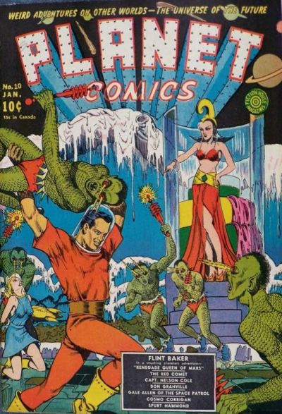 Cover for Planet Comics (Fiction House, 1940 series) #10