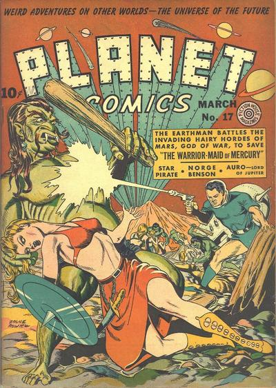 Cover for Planet Comics (Fiction House, 1940 series) #17