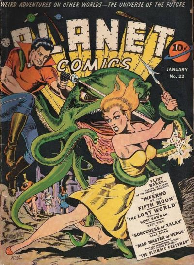 Cover for Planet Comics (Fiction House, 1940 series) #22