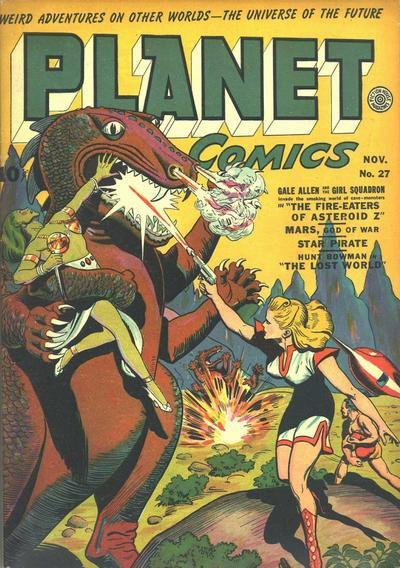 Cover for Planet Comics (Fiction House, 1940 series) #27