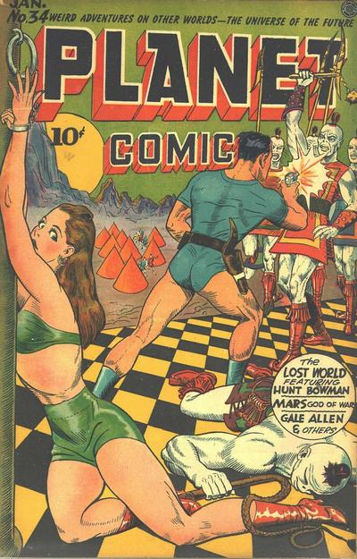 Cover for Planet Comics (Fiction House, 1940 series) #34