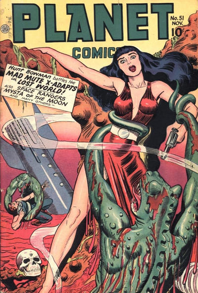 Cover for Planet Comics (Fiction House, 1940 series) #51