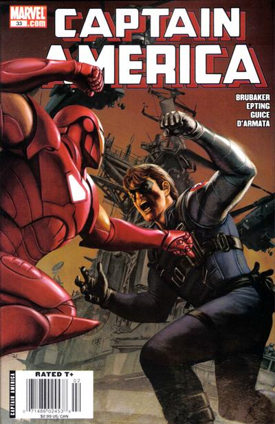 Cover for Captain America (Marvel, 2005 series) #33