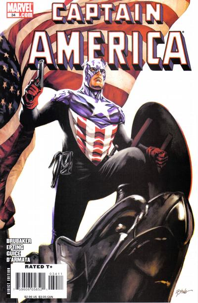 Cover for Captain America (Marvel, 2005 series) #34 [Direct Edition]