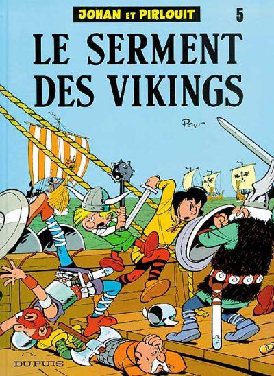 Cover for Johan et Pirlouit (Dupuis, 1954 series) #5 - Le serment des vikings