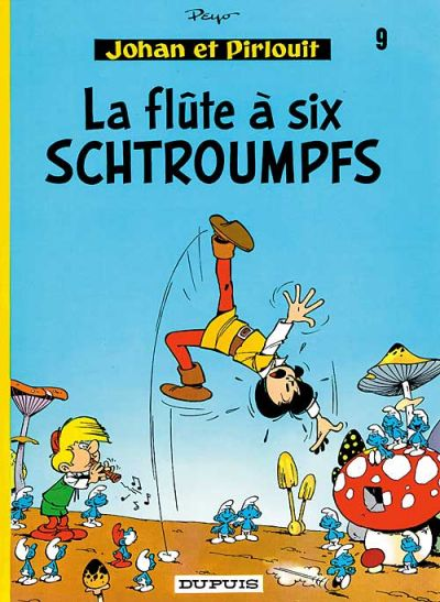 Cover for Johan et Pirlouit (Dupuis, 1954 series) #9 - La flûte à six schtroumpfs