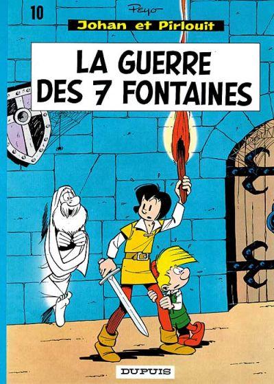 Cover for Johan et Pirlouit (Dupuis, 1954 series) #10 - La guerre des 7 fontaines