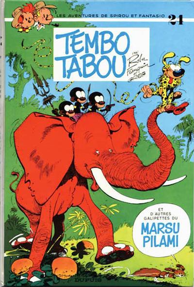 Cover for Les Aventures de Spirou et Fantasio (Dupuis, 1950 series) #24 - Tembo Tabou