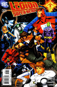 Cover Thumbnail for Supergirl and the Legion of Super-Heroes (DC, 2006 series) #37 [left-side variant]