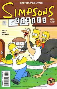 Cover Thumbnail for Simpsons Comics (Bongo, 1993 series) #139