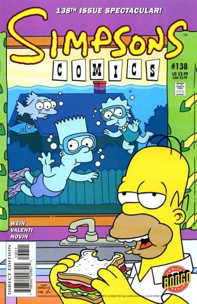 Cover for Simpsons Comics (Bongo, 1993 series) #138