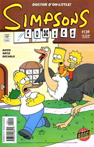 Cover for Simpsons Comics (Bongo, 1993 series) #139