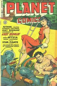 Cover Thumbnail for Planet Comics (Fiction House, 1940 series) #62