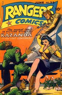 Cover Thumbnail for Rangers Comics (Fiction House, 1942 series) #23