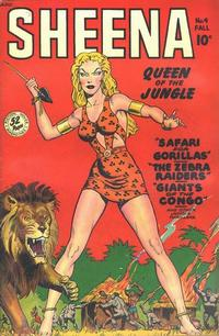 Cover Thumbnail for Sheena, Queen of the Jungle (Fiction House, 1942 series) #4