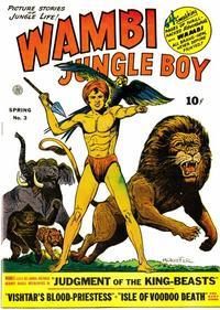 Cover Thumbnail for Wambi, Jungle Boy (Fiction House, 1942 series) #3