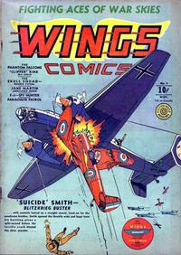 Cover Thumbnail for Wings Comics (Fiction House, 1940 series) #3