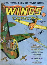 Cover Thumbnail for Wings Comics (Fiction House, 1940 series) #8