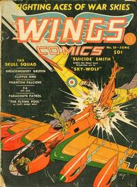 Cover Thumbnail for Wings Comics (Fiction House, 1940 series) #10