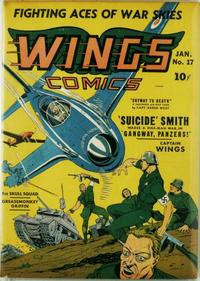Cover Thumbnail for Wings Comics (Fiction House, 1940 series) #17