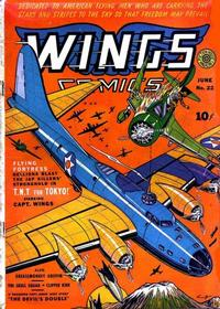 Cover Thumbnail for Wings Comics (Fiction House, 1940 series) #22