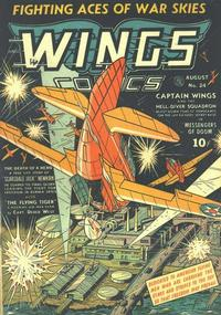 Cover Thumbnail for Wings Comics (Fiction House, 1940 series) #24
