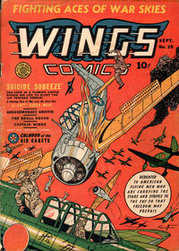 Cover Thumbnail for Wings Comics (Fiction House, 1940 series) #25