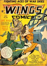 Cover Thumbnail for Wings Comics (Fiction House, 1940 series) #26
